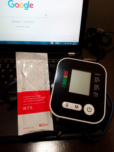 BP monitor with Befil