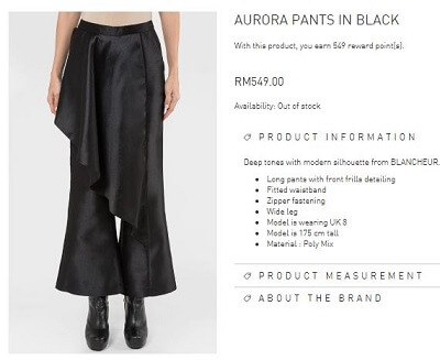 Aurora Pants in Black
