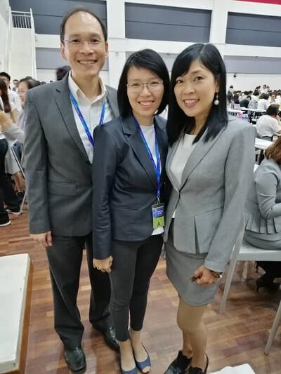 Me, Hubby with Karen Leong