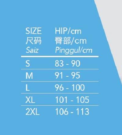 Aulora Panties Size Chart