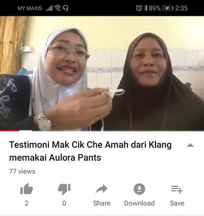 Testimoni Aulora Pants hilangkan sakit kaki