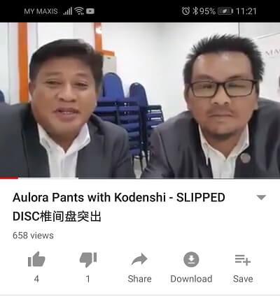 Testimoni mengatasi masalah slip disc dengan Aulora Pants