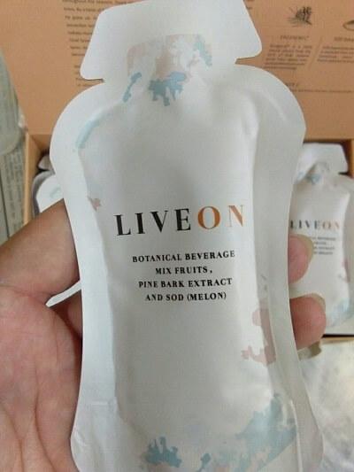 Liveon sachet upclose