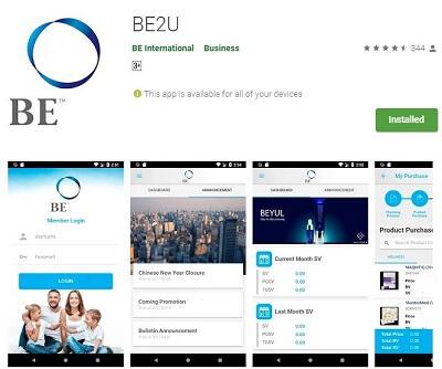 BE2U app Google Playstore