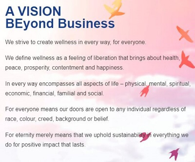 BE International Vision Statement