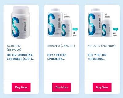 Belixz Spirulina promotion