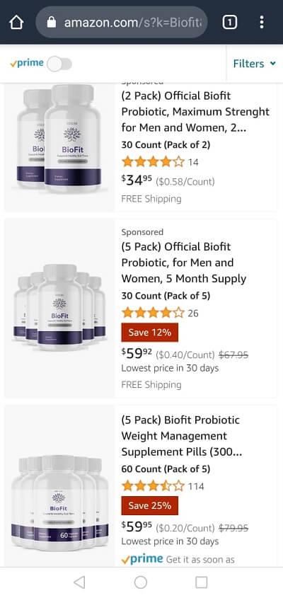 BioFit at Amazon