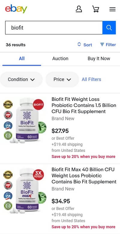 BioFit on eBay