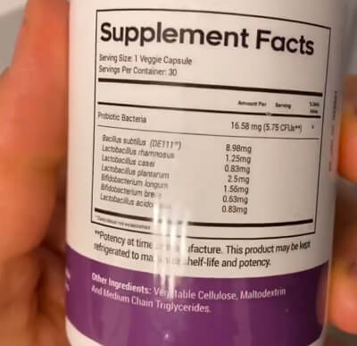 BioFit bottle label