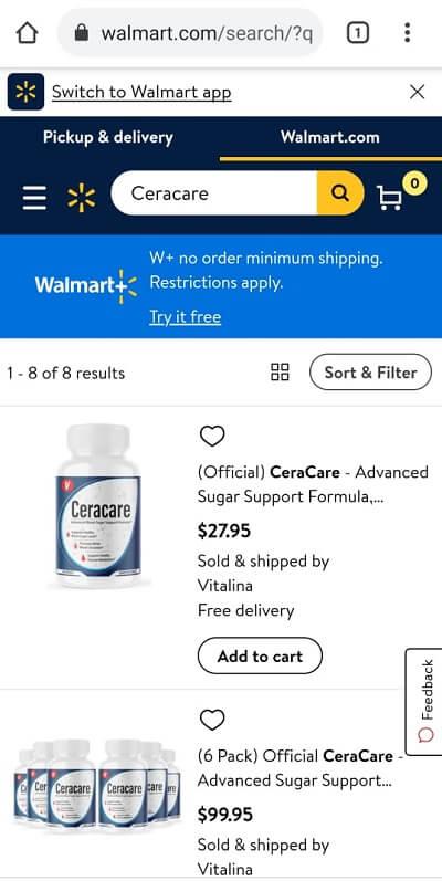 Ceracare Walmart