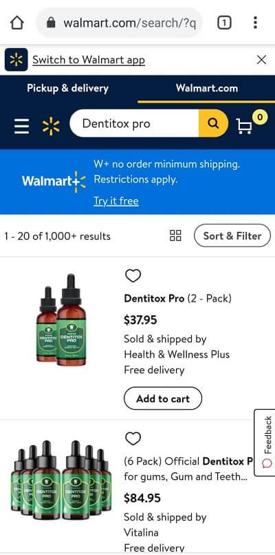 Dentitox Walmart