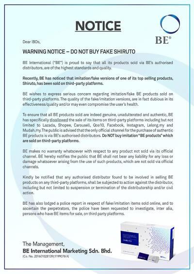 Fake Shiruto Notice
