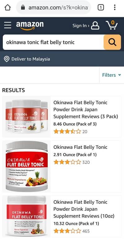 Okinawa Tonic on Amazon