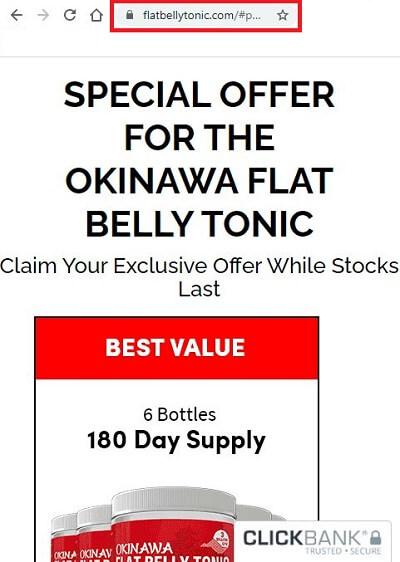 Okinawa Flat Belly Tonic page