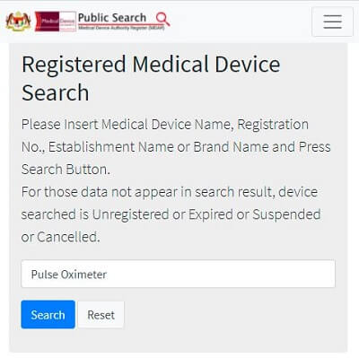 Medical device search