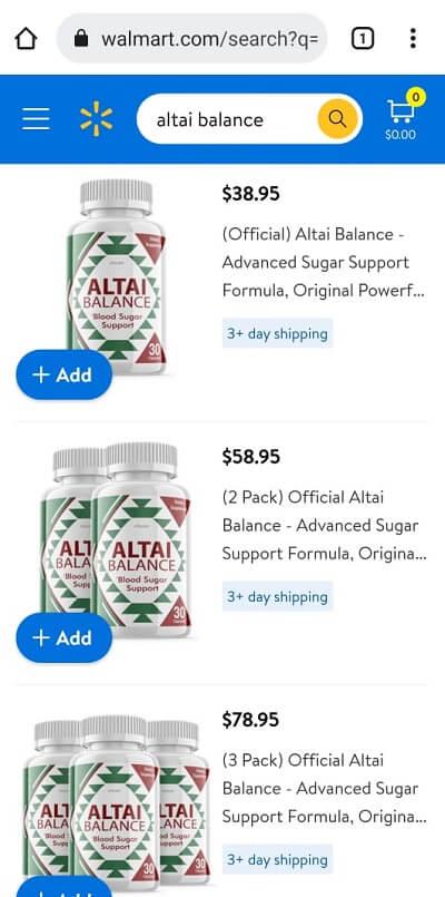 Altai Balance Walmart