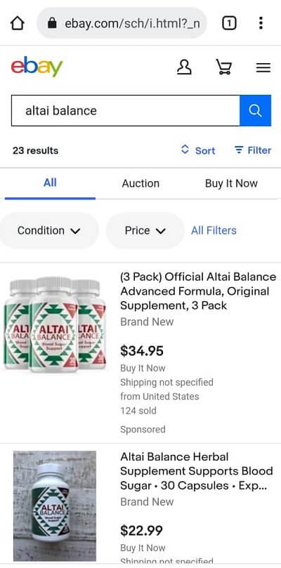 Altai Balance Ebay