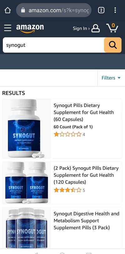 SynoGut Amazon