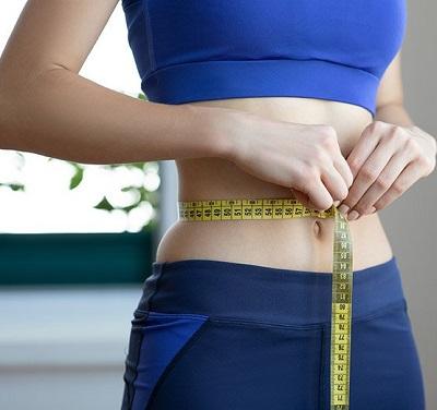 Taking waist measurement