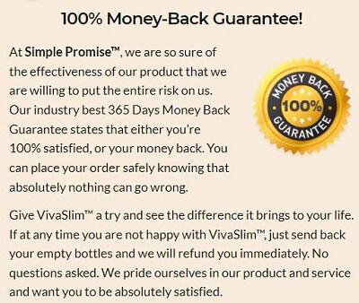 VivaSlim guarantee